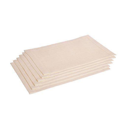 Vaitkute 113005 lot de 6 sets de table pur lin alanta avec - Set de table lavable en machine ...
