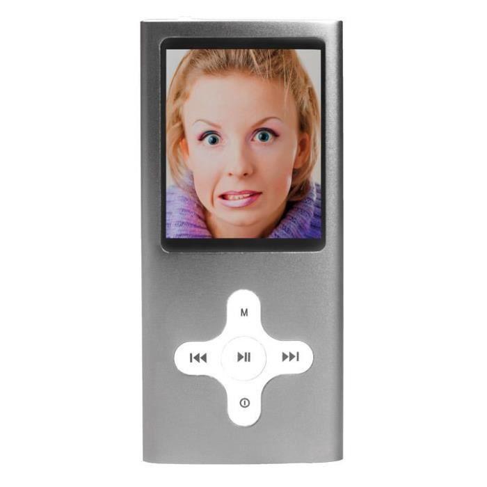 Baladeur mp3 mp4 appareil photo camera 8gb gris for Mp4 qui fait appareil photo
