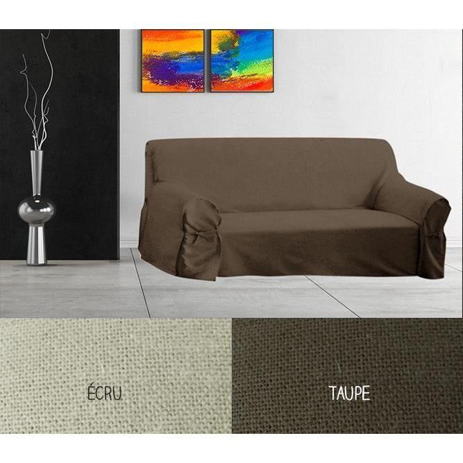 housse pour canap 205 x 270 cm diff rents coloris taupe achat vente housse de canape. Black Bedroom Furniture Sets. Home Design Ideas