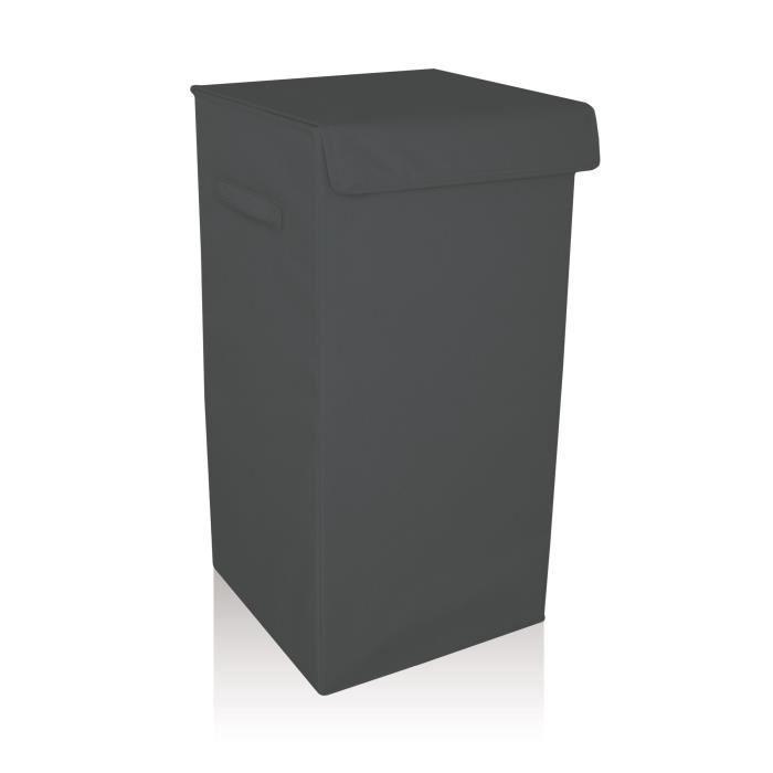 coffre linge gris zinc achat vente panier a linge coffre linge gris zinc cdiscount. Black Bedroom Furniture Sets. Home Design Ideas