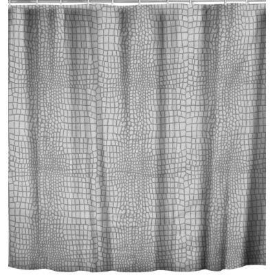 rideau de douche croco gris achat vente rideau de douche polyester cdiscount. Black Bedroom Furniture Sets. Home Design Ideas