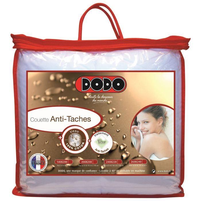 Dodo couette anti t ches teflon 240x260cm achat vente couette cdiscount - Couette dodo anti acarien 220x240 ...