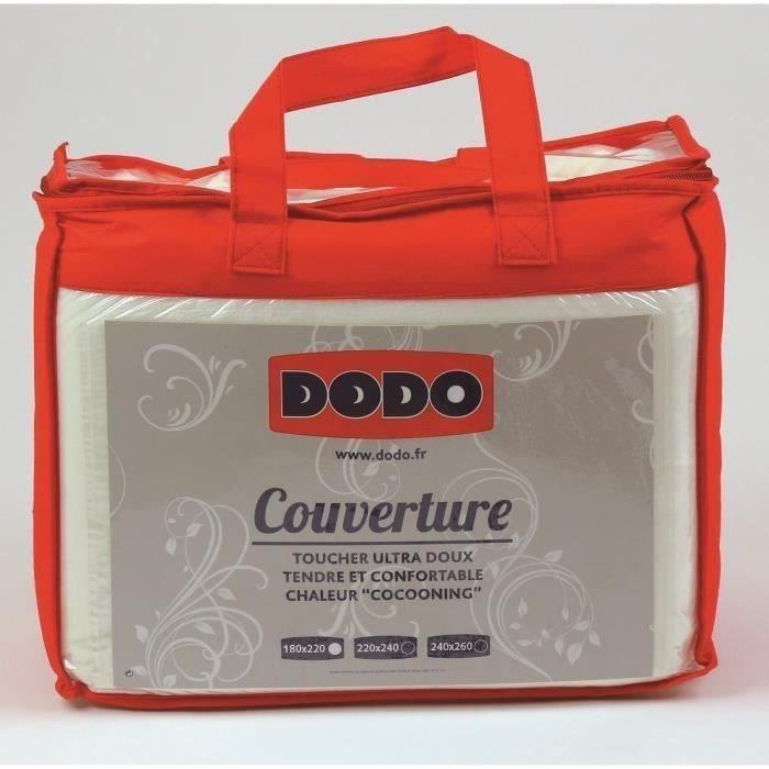 dodo couverture microfibre extra douce 240x260cm cru achat vente couverture plaid cdiscount. Black Bedroom Furniture Sets. Home Design Ideas