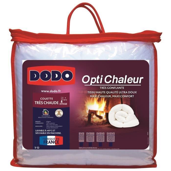 Dodo couette optichaleur 240x260 cm blanc achat vente couette soldes d - Couette dodo 240x260 ...