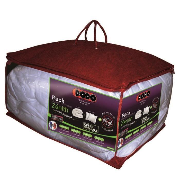 Dodo zenith pack couette oreiller anti acariens for Dodo linge de maison
