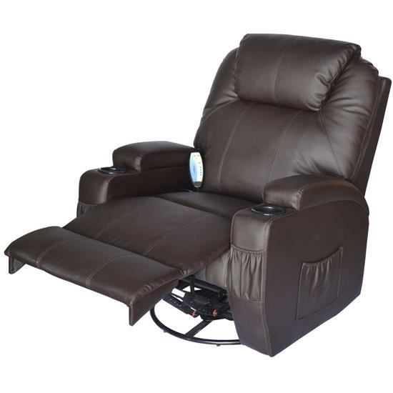 fauteuil massage lectrique chauffant chocolat achat. Black Bedroom Furniture Sets. Home Design Ideas