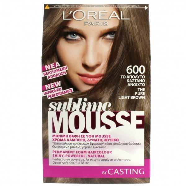 coloration sublime mousse 600 chatain achat vente - L Oral Coloration