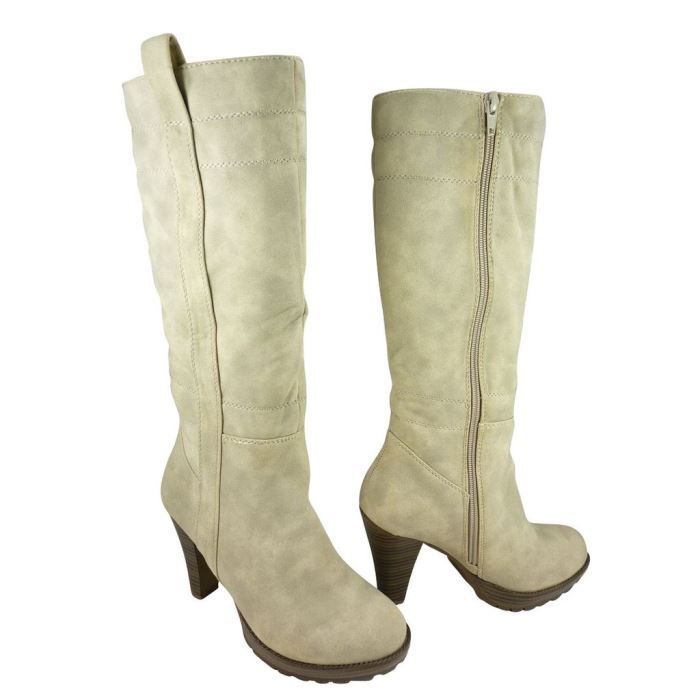 bottes femme talons hauts daim achat vente bottes femme talons hauts daim pas cher. Black Bedroom Furniture Sets. Home Design Ideas