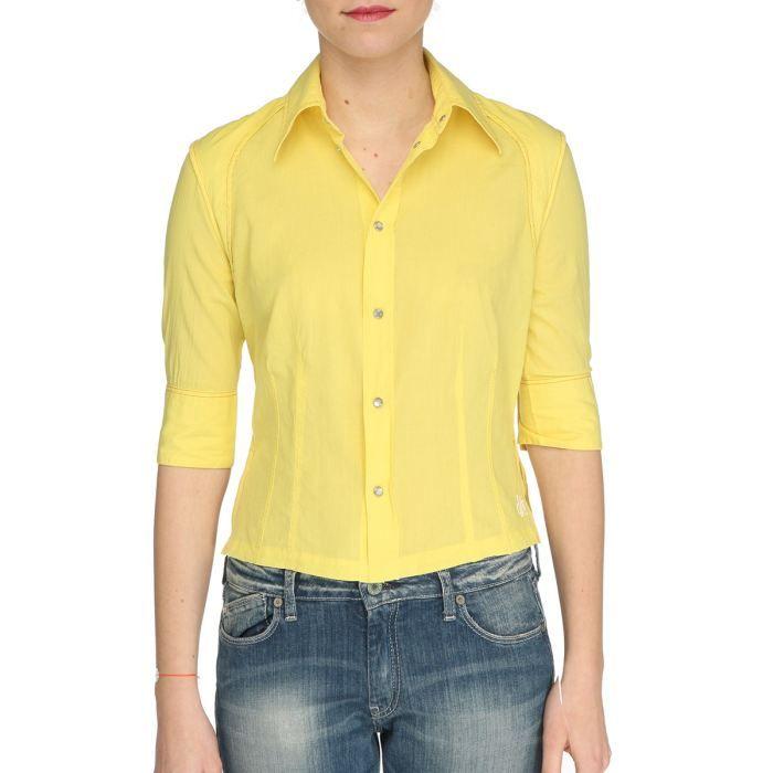 diesel chemise tagaita femme jaune achat vente chemisier blouse diesel chemise femme. Black Bedroom Furniture Sets. Home Design Ideas