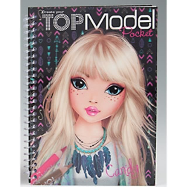 Carnet coloriage poche 3d topmodel candy achat vente livre de coloriage carnet coloriage - Top model coloriage livre ...