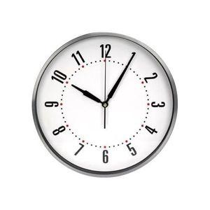Pendule murale aluminium decor achat vente pendule - Horloge murale aiguilles geantes ...