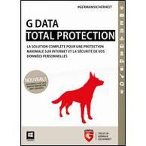 LOGICIEL À TÉLÉCHARGER G Data Total Protection - 3 Postes - 1 an