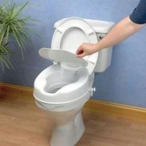 RÉHAUSSEUR TOILETTES  Rehausseur de toilettes Savanah avec couvercle sur