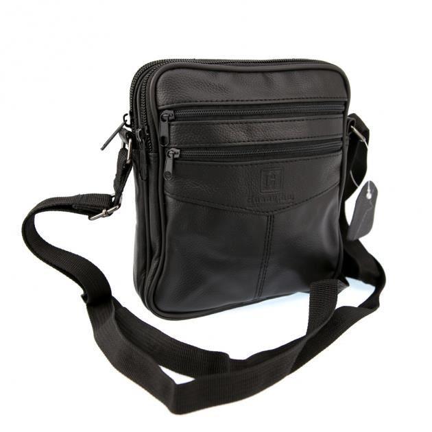 sac pochette bandouli re homme cuir sb2366 noir noir. Black Bedroom Furniture Sets. Home Design Ideas