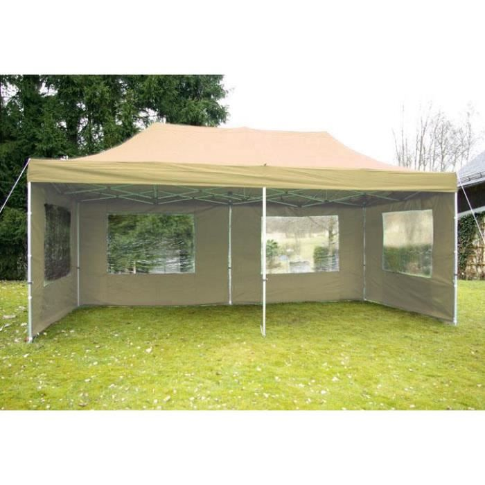 pavillon de jardin beige 3 x 6 m achat vente tonnelle barnum pavillon de jardin beige 3. Black Bedroom Furniture Sets. Home Design Ideas