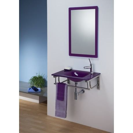 ensemble salle de bains en verre palerme violet achat. Black Bedroom Furniture Sets. Home Design Ideas