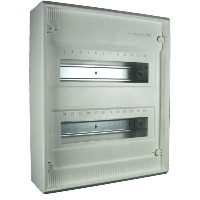Armoire de distribution en saillie 2 rang es achat vente tableau lectrique cdiscount - Armoires electriques legrand ...