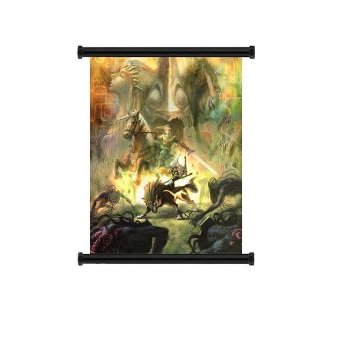 Legend of zelda store en tissu wall scroll 40x60cm for Achat maison zelda