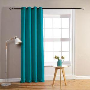 double rideaux bleu turquoise achat vente double rideaux bleu turquoise pas cher les. Black Bedroom Furniture Sets. Home Design Ideas