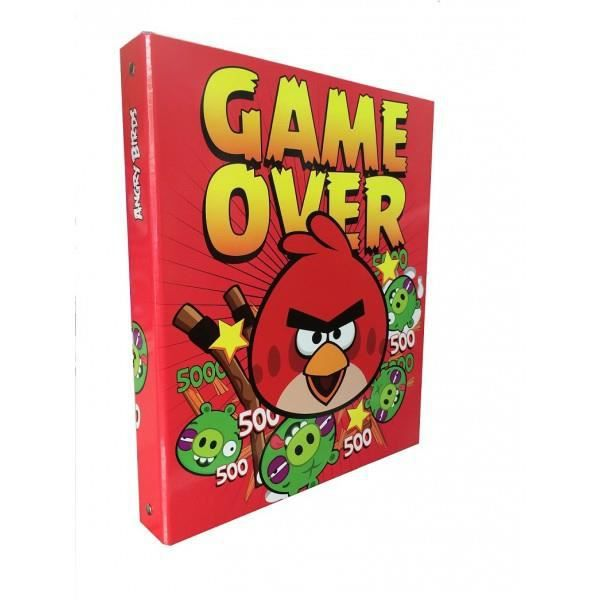Classeur angry birds rouge game over achat vente classeur classeur angry birds rouge - Angry birds rouge ...