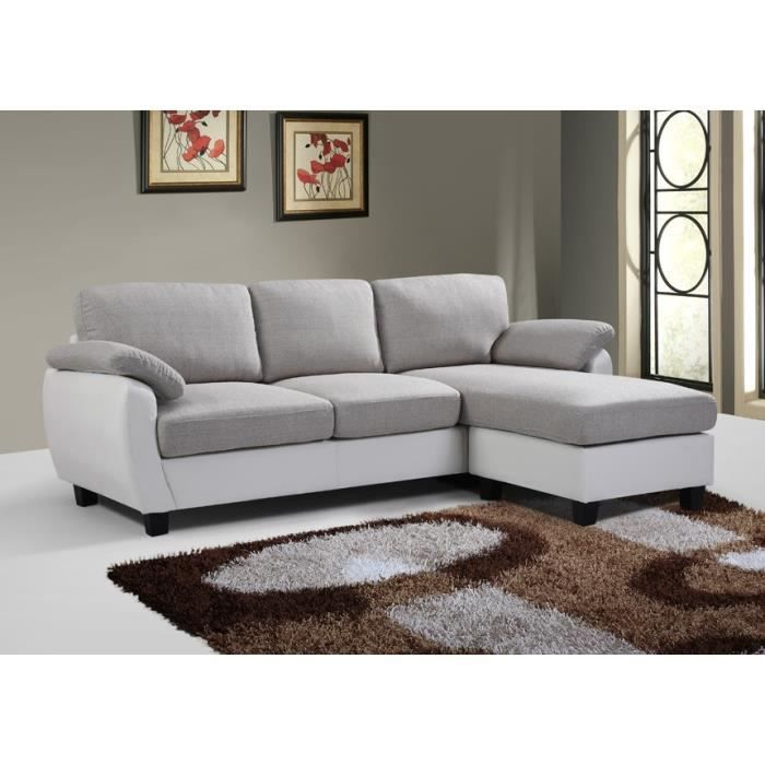 canap d angle ruby bicolore achat vente canap sofa. Black Bedroom Furniture Sets. Home Design Ideas