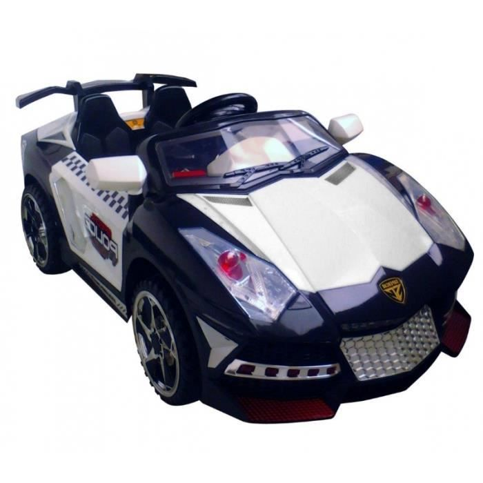 voiture de sport lectrique noir pour enfant 12v achat vente voiture voiture de sport. Black Bedroom Furniture Sets. Home Design Ideas
