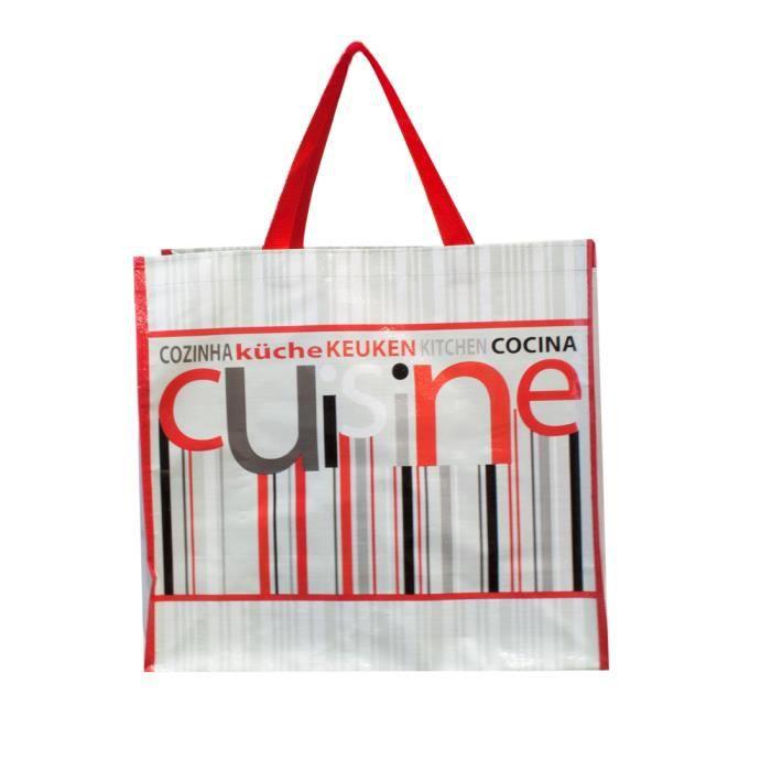 sac de course pp decor cuisine gris achat vente sac plastique cabas sac de course pp decor. Black Bedroom Furniture Sets. Home Design Ideas