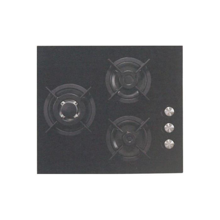 Table cuisson gaz sogelux pc515nf verre noir achat - Table cuisson gaz verre ...