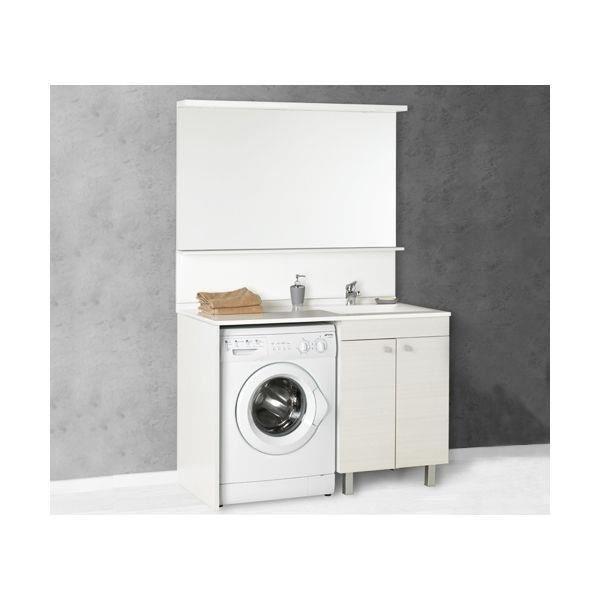 Meuble salle de bain avec bac a linge maison design - Meuble vasque avec lave linge ...