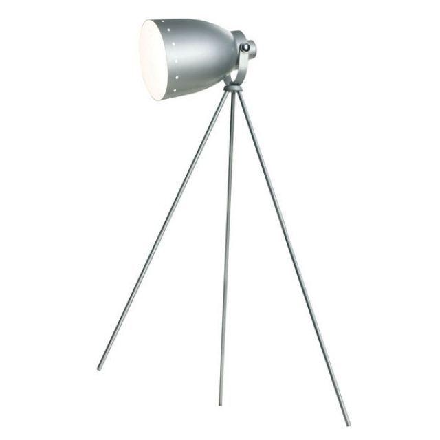 lampe sur pied design retro metal gris achat vente. Black Bedroom Furniture Sets. Home Design Ideas