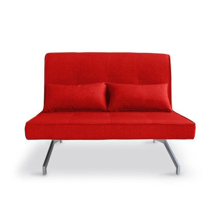 canap convertible et modulable 2 places marco couleur rouge achat vente clic clac cdiscount. Black Bedroom Furniture Sets. Home Design Ideas