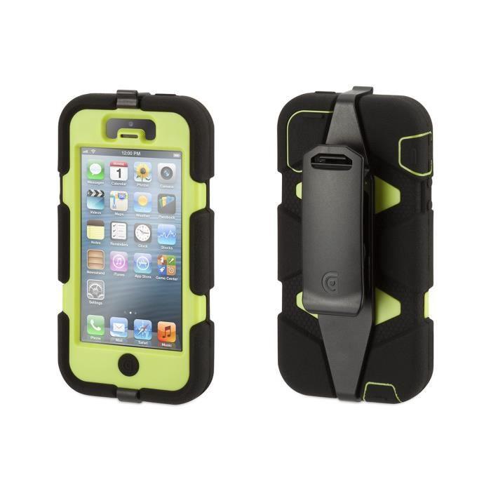 telephonie accessoires portable gsm coque survivor housse iphone  s jaune noir f gri