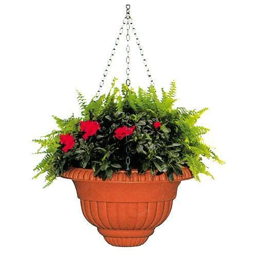 suspension ebro coloris terre cuite d 37 cm achat vente jardini re pot fleur pot. Black Bedroom Furniture Sets. Home Design Ideas