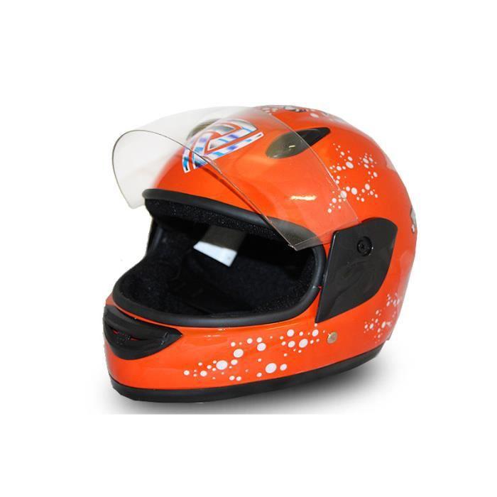 full face helmet casque integrale moto pour enfant orange. Black Bedroom Furniture Sets. Home Design Ideas
