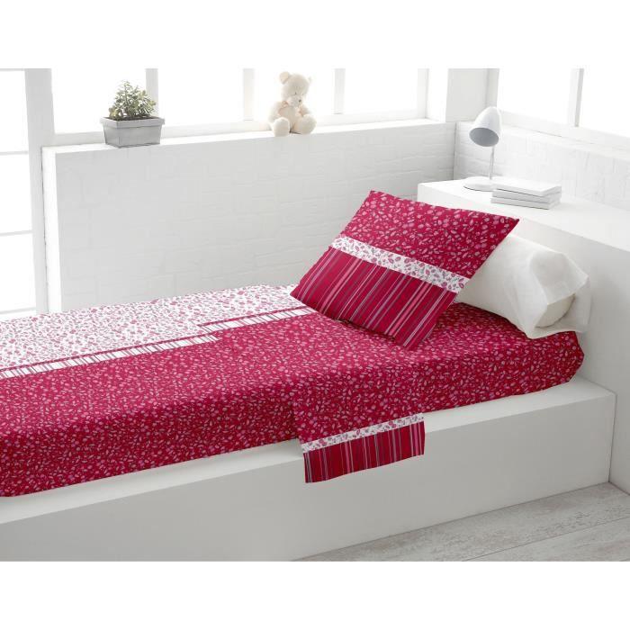 parure de lit 3 pi ces mistral framboise achat vente parure de drap cdiscount. Black Bedroom Furniture Sets. Home Design Ideas