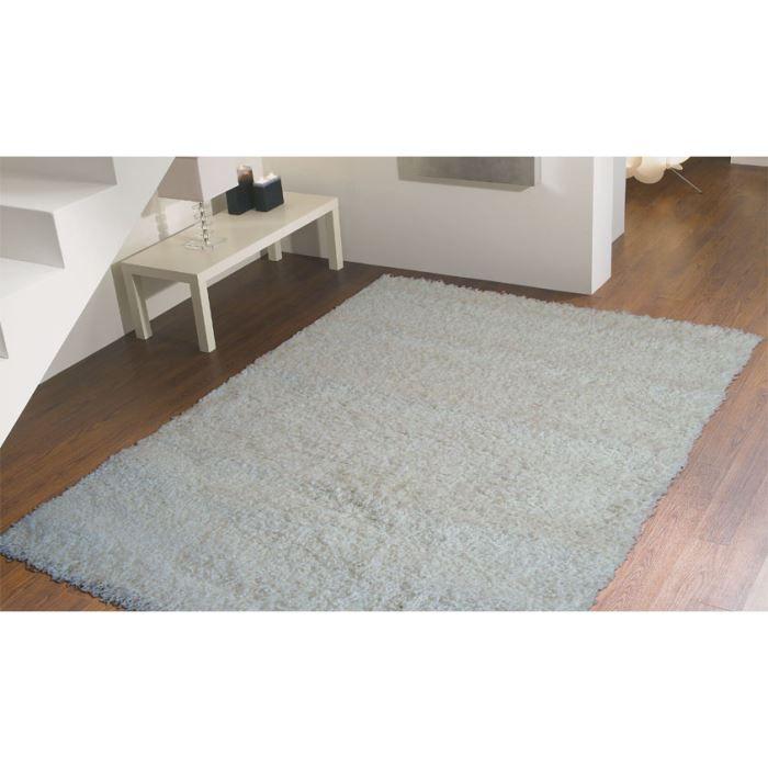 Tapis a poils longs blanc domino 2210 cm 180x280 achat for A poil a la maison