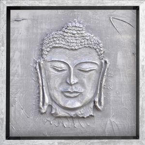 Tableau déco cadre coffre Bouddha en bois avec moulure et recouvert d'un film de protection. Donnez un nouvel élan ? votre décoration murale avec ce cadre coffre design et moderne. Dimensions : 33x33 cm. Dimension intérieure : 31x31 cm. Dimension de la mo