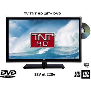 Téléviseur LED Télévision TV + DVD LED 19' 12V /220V camping car