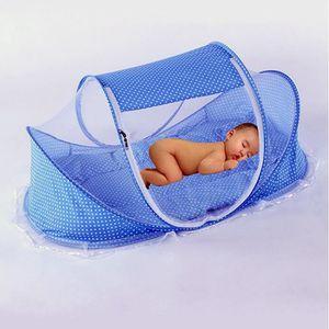 MOUSTIQUAIRE LIT BÉBÉ Moustiquaire Pliable Bébé portable avec Coussin et
