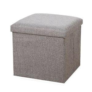 pouff coffre gris achat vente pouff coffre gris pas. Black Bedroom Furniture Sets. Home Design Ideas