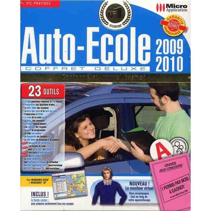 auto ecole coffret deluxe 2009 logiciel pc dvd r prix pas cher cdiscount. Black Bedroom Furniture Sets. Home Design Ideas