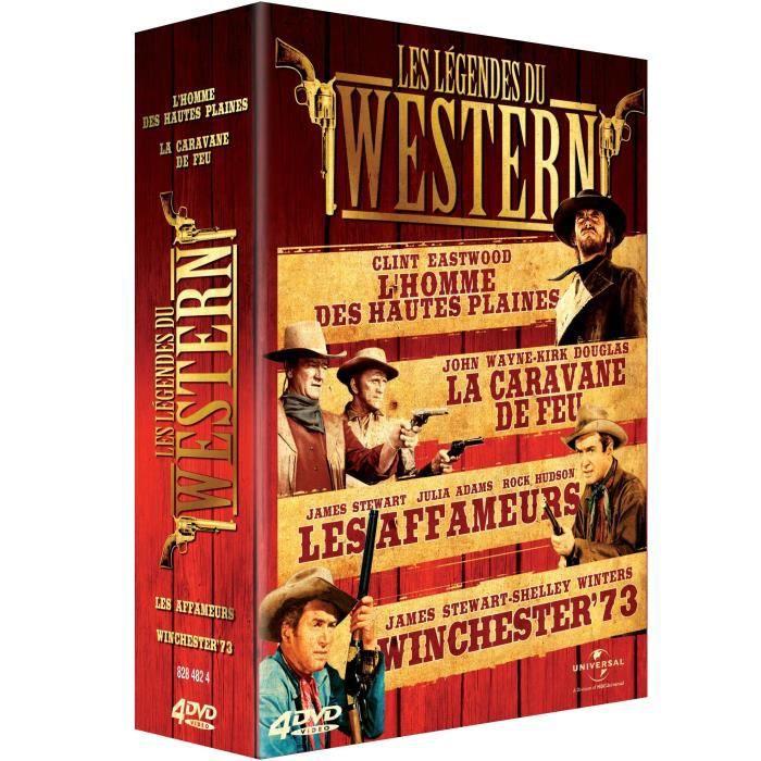 Universal Pictures Uk Les Legendes du western Coffret Lhomme des hautes plaines La caravane de feu Winchester 73 Les aff