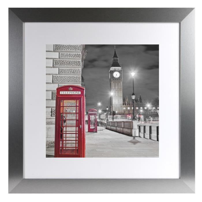 Image encadr e phoenix alu london 70x70 cm achat vente for Image encadree decoration