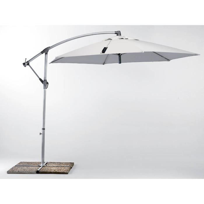parasol de jardin 3x3 bras avec usb chargeur de panneau solaire achat vente parasol parasol. Black Bedroom Furniture Sets. Home Design Ideas