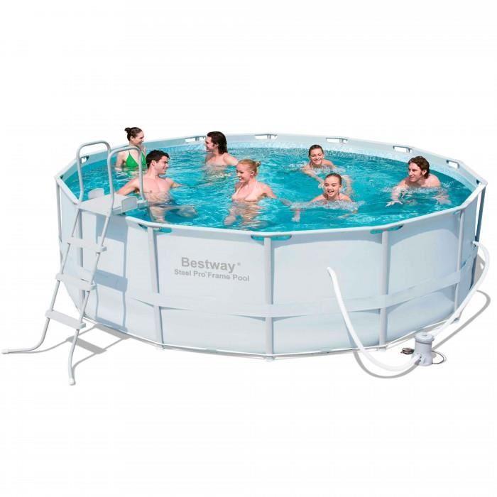 maison jardin plein air piscine tubulaire ronde bestway de  x m f auc
