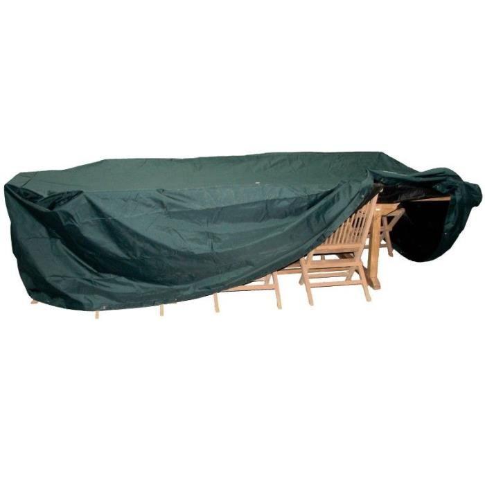 Housse pour salon de jardin taille xxl table 10 chaises 350 x 150 x 105 cm achat vente for Housse table salon de jardin