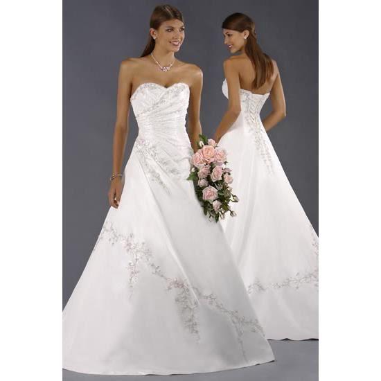 robe de mari e blanche ou ivoire tailles du 34 au 44