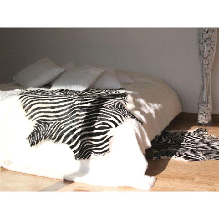 Petite peau imprim e z bre achat vente tapis cdiscount - Peau de zebre ...