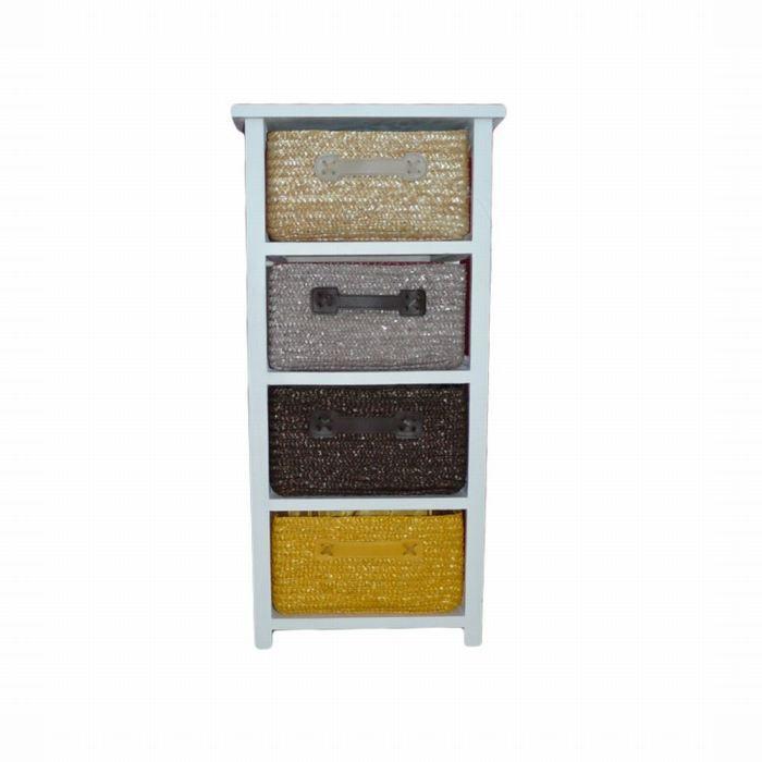 Meuble color 4 tiroirs achat vente commode semainier textile cdiscount - Meuble colore ...