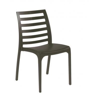 Chaise de jardin orion resine grise achat vente chaise - Chaise jardin resine ...